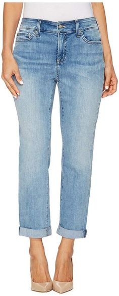 #Petite Boyfriend in Dreamstate #Women's #Jeans. The NYDJ& amp #174 boyfriend is a casually stylish jean that looks equally as great with heels or sneakers. Cropped boyfriend jean has a high rise, straight leg, and cuffed hem. Lift Tuck& amp #174 Technology lifts and shapes curves so you instantly appear one size smaller. Patented crisscross panel flattens the tummy. Dreamstate is a whiskered and sanded light blue wash on premium stretch denim that retains its shape for lasting wear.