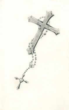 cross with rosary