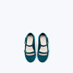 ZARA - SALE - BUCKLED LEATHER BALLET FLATS Childrens Shoes, Leather Ballet Flats, Zara, Sneakers, Fashion, Shoes, Outfits, Shoes For Girls, Bebe