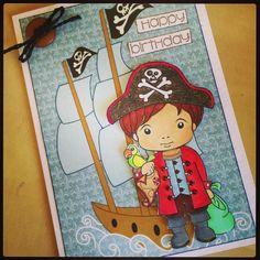 La La Land Crafts Pirate Luca Card.