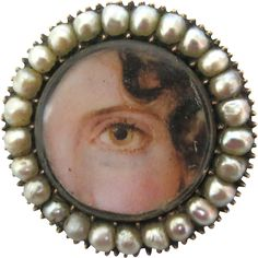 The treasured eye is a rarity in the world of antique jewelry. Although it is difficult to date every example we have come across we believe this to