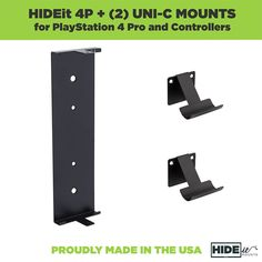 HIDEit PS4 Pro Mount 2 Controller Mount Bundle Made in the USA ** Check out this great product.(It is Amazon affiliate link) #SonyPlaystationAccessories Ps4 Wall Mount, Playstation, Console, Usa, Sony, Amazon, Check, Image, Accessories