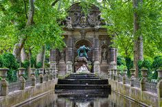 Medici Fountain in France by Robert Crum