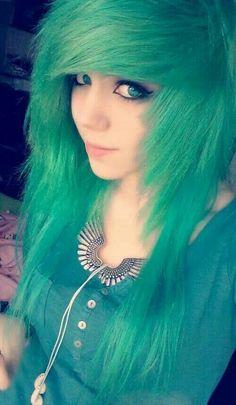 Pastel green hair