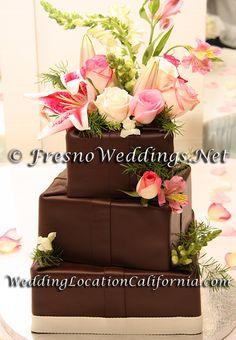 Rolled Chocolate Wedding Cake - www.WeddingSearchesGuide.com