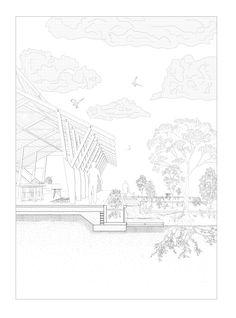 Hortus Conclusus, Building & Garden. The Boat House. Matthew Kernan