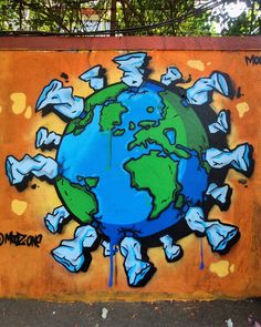 Save Planet Earth, Save The Planet, Graffiti, Plastic Pollution, Dream City, Grinch, Planets, Blog, Rock