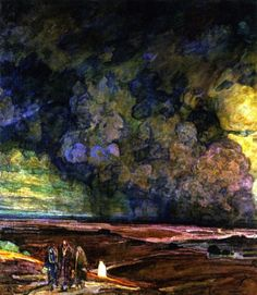 Henry Ossawa Tanner (American, 1859-1937), Sodom and Gomorrah, c.1920-24. Oil on canvas, 41 1/8 x 36 ¼ in.