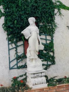 Garden Cast Stone Statue | eBay   With Cream Patina