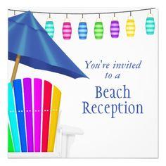 Custom Gay Beach Wedding Invitations