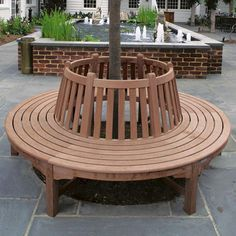 Windermere circular bench.