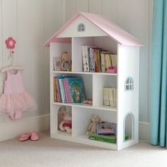 Dotty Dolls House Bookcase - Bookcases & Bookshelves - Storage - gltc.co.uk