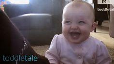 Bebé Rindo Histericamente Do Cão Que Come Pipocas / Baby Girl Laughing Hysterically at Dog Eating Popcorn   Rir até Cair