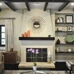 L2 Interiors - Spanish Colonial fireplace