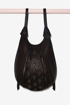 Bright Like a Diamond Leather Backpack - 70's Festival