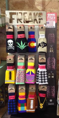 Freaker brand bottle koozies with a fun variety of styles - pot leaves, skulls & crossbones, peace signs, football, bright colors and patterns, and much more! #ArtMartGifts #Freakers #koozies #madeinUSA #americanmade #Colorado #Boulder #fun #marijuana #potleaf #weed #drinking #beer #football #patterns #skulls #plaid