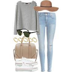 outfit for watching a football game by im-emma on Polyvore featuring мода, Wood Wood, J Brand, Converse, Givenchy, ASOS, Topshop and Rayban