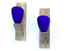 Wandteelichthalter Treibholz, Glas, Upcycling von SchlueterKunstundDesign - Wohnzubehör, Unikate, Treibholzobjekte, Modeschmuck aus Treibholz auf DaWanda.com