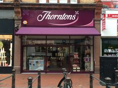 What an impact the awning and shop front look fantastic for Thorntons in Reading with the help of Deans Blinds & Awnings