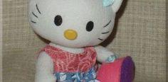 Hello Kitty en tela