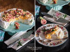 Pavlova con higos y crema de limón Cupcakes, Pavlova, Kitchenaid, Breakfast, Food, Lemon Cream, Figs, Traditional Kitchen, Dessert Recipes