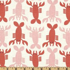 Crabtastic Lobster  Fabric By The Yard  H by TheFabricFox on Etsy, $9.45