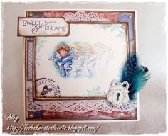 Lo shakerato Alberto - love this effect :).  Cupido stamp from Sweet Crazy Love Collection from Magnolia stamps.