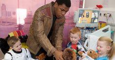 'Star Wars' Star John Boyega Visits Children's Hospital Dressed as Finn -- 'Star Wars: The Force Awakens' star John Boyega paid a visit to some terminally ill children at the Royal London hospital. -- http://movieweb.com/star-wars-john-boyega-finn-visits-sick-children/
