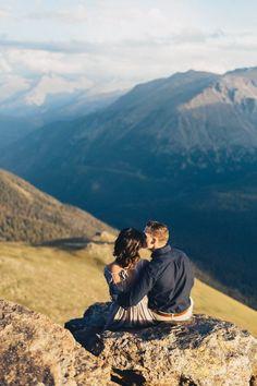 Thrilling Rocky Mountain National Park Engagement Photos | Boris Zaretsky Photography