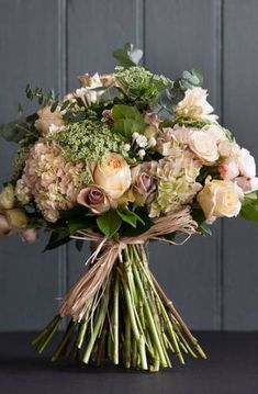 Beige bridal bouquet - Gary Cooper & Matthew Taylor • Fabulous Flowers #beige #bridalbouquet #weddings