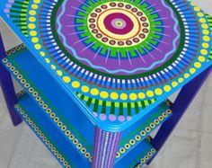 Muestra de trabajo mesa Custom mano pintado muebles por LisaFrick