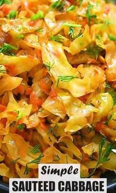 Tasty Vegetarian Recipes, Easy Healthy Recipes, Low Carb Recipes, Cooking Recipes, Vegetable Dish, Veggie Dishes, Vegetable Recipes, Sauteed Cabbage, Fried Cabbage