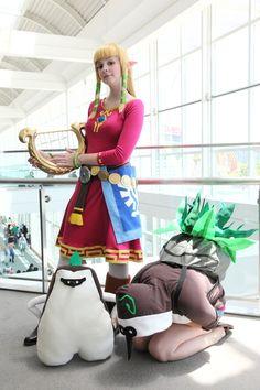 Skyward Sword Zelda and two Kikwis! ^^