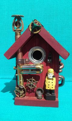 Hey, I found this really awesome Etsy listing at https://www.etsy.com/listing/193903108/nautical-steampunk-birdhouse-a-lot-of