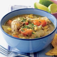 Salsa and chili powder add spice to this chicken stew, but probably not too much for timid tasters or kids. If you want to kick up the...