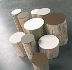 Arredare casa con i tavolini in tronco di legno naturale   Arredare con stile