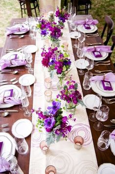 Wedding Table Decorations 419045940329453164 - 39 Lavender Wedding Decor Ideas You'll Totally Love ❤ lavender wedding decor ideas tender table decor Jill Lauren Photography Source by weddingforward Purple Wedding Tables, Purple Wedding Decorations, Reception Table Decorations, Wedding Reception Centerpieces, Wedding Table Settings, Wedding Flowers, Burgundy Wedding, Reception Ideas, Wedding Bride