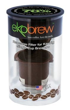 Ekobrew Cup, Refillable Cup for Keurig K-cup Brewers, Brown, 1-Count by ekobrew, http://www.amazon.com/dp/B0051SU0OW/ref=cm_sw_r_pi_dp_cTW3rb1G7NTFZ