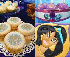 Princess Jasmine Birthday Party (Arabian Nights) // Hostess with the Mostess® Jasmin Party, Princess Jasmine Party, Disney Princess Party, Arabian Party, Arabian Nights Party, Birthday Party Themes, Girl Birthday, Aladdin Party, Punk Disney Princesses