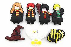 14pcs Harry Potter Shoe Charms Party Gifts Fits Jibbitz Croc Shoes & Wristband Bracelet