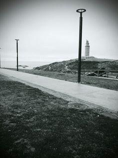 Torre de Hércules en La Coruña, Galicia
