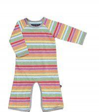 Vivid - Jumpsuit - Grey rainbow stripe