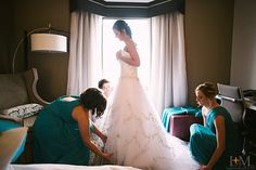 Photo from Aerial + Peter collection by LeahAndMark & Co. #LeahandMark.com #weddingdress #bridalparty