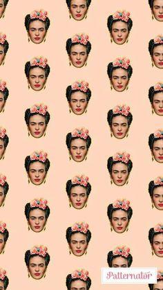 Frida Iphone Wallpaper Vsco, Screen Wallpaper, Wallpaper Backgrounds, Frida Kahlo Portraits, Kahlo Paintings, Frida Art, Art Sketchbook, Pattern Wallpaper, Cute Wallpapers