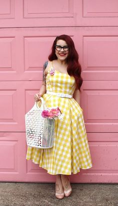 If you prefer Modern June Cleaver's fifties inspired style in our Priscilla Lemon Midi then FOLLOW us and re-pin to win! One winner will be picked 02nd March #win #competition #giveaway #print #pattern #check #gingham #pastel #elegant #chic #retro #vintage #classic #sophisticated #fblogger #theprettydress #theprettydresscompany