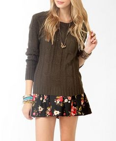 Cable Knit Pointelle Sweater | FOREVER 21 - 2027704865