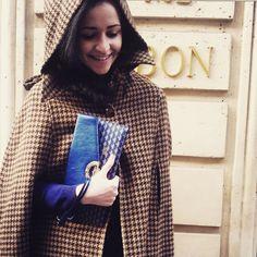 The Fauré Le Page limited edition Enveloppe Parade in Paris Blue toile écailles and metallic calfskin.