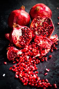 Pomegranate, known for adding bitter-sweet red fruit notes to fragrances.