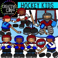 This 28-image set is filled with your hockey favorites! Included are 17 vibrant, colored images and 11 black and white versions.Included in this set are the following images (some available in multiple colors):hockey mask, hockey goalie kid, girl with stick, boy with stick, skating hockey player, hockey kid slap shot, hockey puck, hockey goal, hockey skates, hockey stick, ice patch.**This set was previously included in my DECEMBER GRAPHICS CLUB 2015.