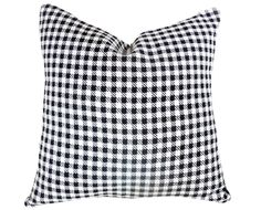 Black and White Decorative Throw Pillow, Contemporary Pillows, Classic Plaid Cushion Cover, Fall Winter Couch Accent, Home Decor 18x18. $29.00, via Etsy.
